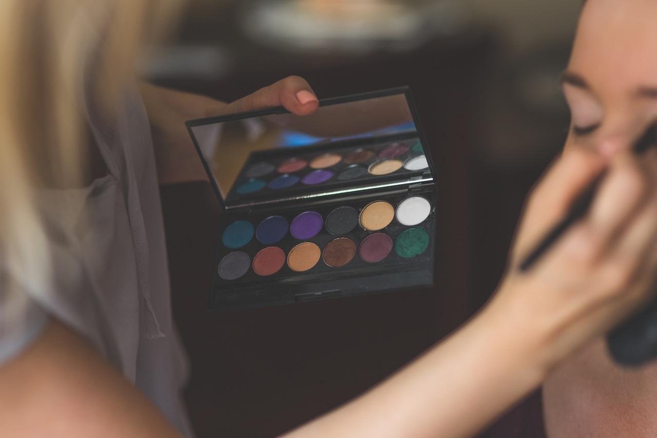 party, feest, make-up, kleuren, oogschaduw